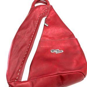 Cuoieria Fiorentina Red Learher  Backpack.